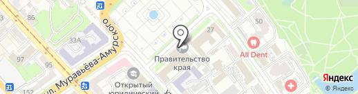 Правительство Хабаровского края на карте Хабаровска
