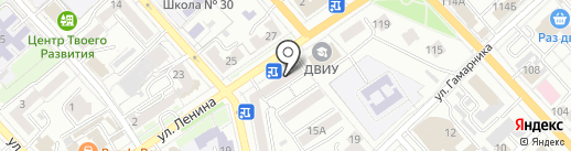 Химчистка на Шимановской на карте Хабаровска