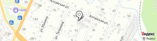 Перекресток на карте Хабаровска