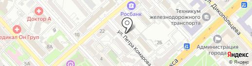 Эреду на карте Хабаровска