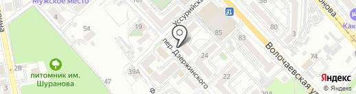 Майя на карте Хабаровска