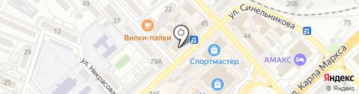Я и ты на карте Хабаровска