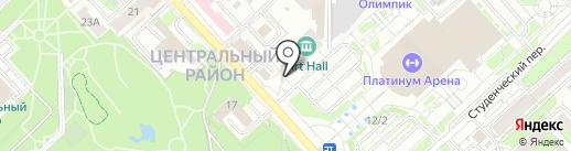 Рекламные сети на карте Хабаровска