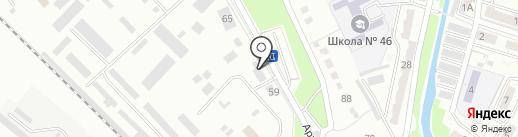Локомотив ДВ на карте Хабаровска