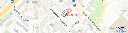 Ленинградский на карте Хабаровска