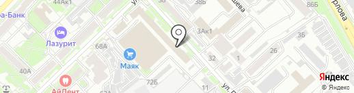 Игуана на карте Хабаровска