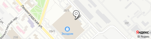 Упаком Востока на карте Хабаровска