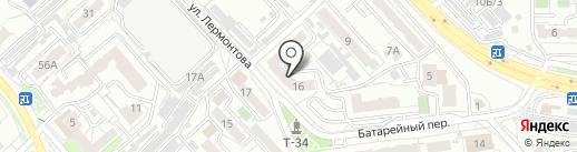 Лермонтова 16, ТСЖ на карте Хабаровска