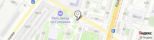 Танта на карте Хабаровска