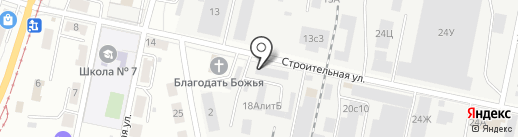 Бирлайн на карте Хабаровска