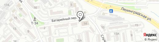 Хмельной боцман на карте Хабаровска