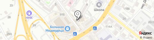 Табакерка на карте Хабаровска
