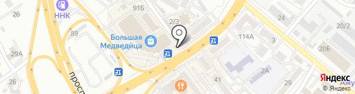 Букет на карте Хабаровска