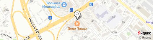 Мастер-Ключи на карте Хабаровска