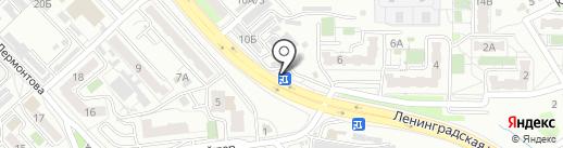 Южное, МУП на карте Хабаровска