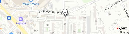 Бантик на карте Хабаровска