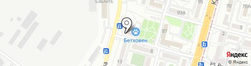 Академик на карте Хабаровска