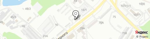 Стройпол 14 на карте Хабаровска