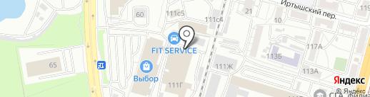 Вертекс-ДВ на карте Хабаровска