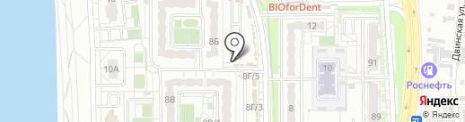 У дома на карте Хабаровска