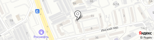 Бутылочка на карте Хабаровска