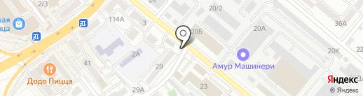 Навруз на карте Хабаровска