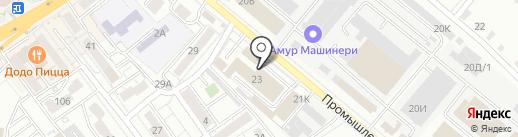 Абажур на карте Хабаровска
