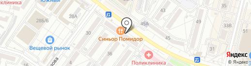 Инталия-ДВ на карте Хабаровска