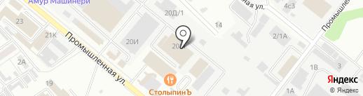 Компания Профилайн на карте Хабаровска