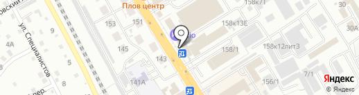 Вектор на карте Хабаровска