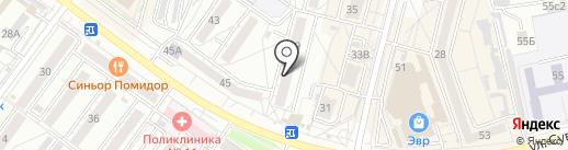 Жилищный кооператив №25 на карте Хабаровска