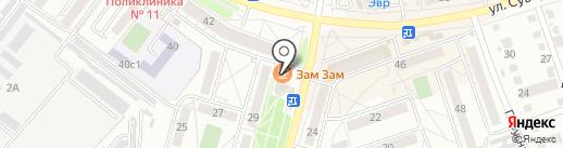 Журавушка на карте Хабаровска