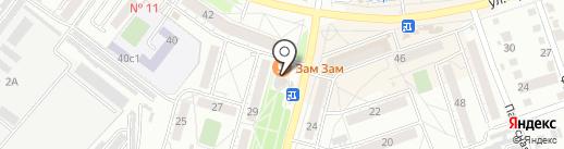 Роза Мимоза на карте Хабаровска