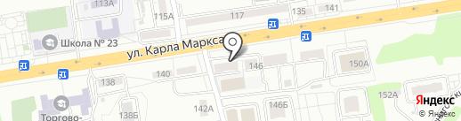 Алгис на карте Хабаровска