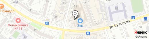 Коллекция обуви на карте Хабаровска