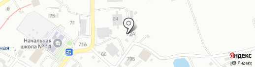 Автодвор на карте Хабаровска