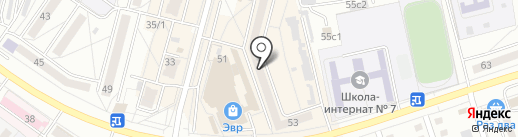 Гейзер на карте Хабаровска