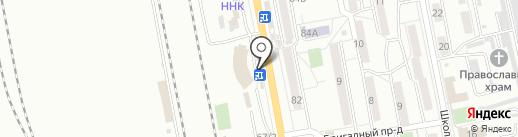 Киоск фастфудной продукции на карте Хабаровска