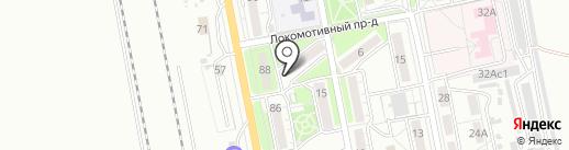 Мама папа и я на карте Хабаровска
