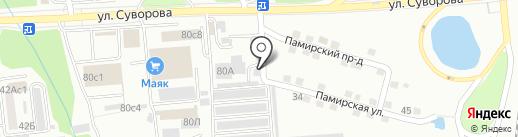 Красавина Е.В. на карте Хабаровска
