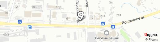 Команда А на карте Хабаровска