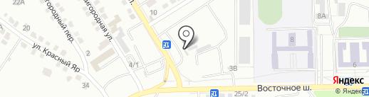 Сток шин на карте Хабаровска