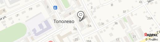 Банкомат, Дальневосточный банк Сбербанка России на карте Тополево