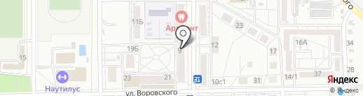 Кега на карте Хабаровска