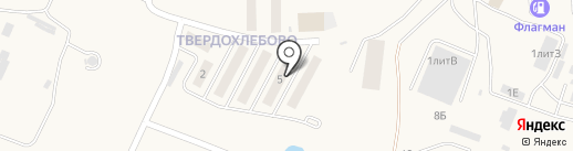Твердохлебово на карте Мирного