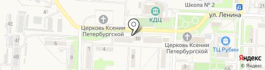 Магазин трикотажных изделий и бытовой химии на карте Некрасовки