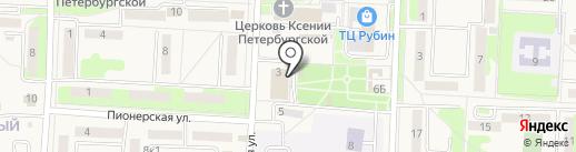 Осиновореченское, МУП на карте Некрасовки