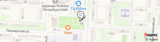 Радуга на карте Некрасовки