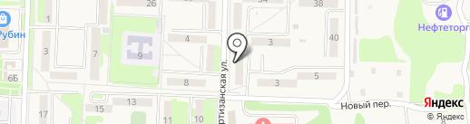 Продуктовый магазин на Партизанской на карте Некрасовки