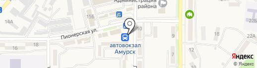 Комсомольский-на-Амуре аэропорт на карте Амурска